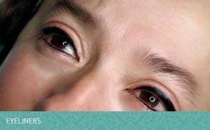 Ojos delineados con maquillaje permanente